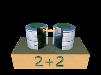 Септик 2+2 из бетонных колец