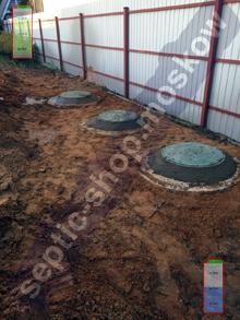 Монтаж септика 3+3+3 из бетонных колец под ключ стоимость от 55990 рублей