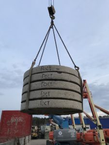 Плиты перекрытия для септика из бетонных колец