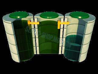 Трёхкамерные септики из колец